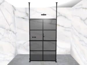 DEK-design Free Standing 120 getint grijs glas