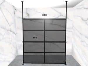 DEK-design Free Standing 180 getint grijs glas