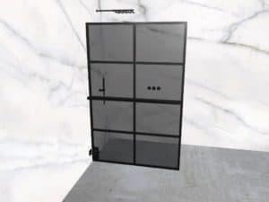 DEK-design Wall L 130 getint grijs glas