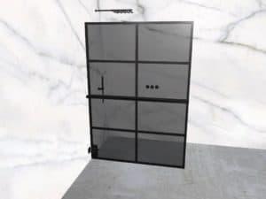 DEK-design Wall L 140 getint grijs glas