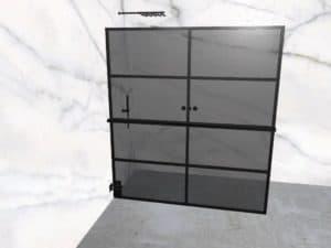 DEK-design Wall L 180 getint grijs glas