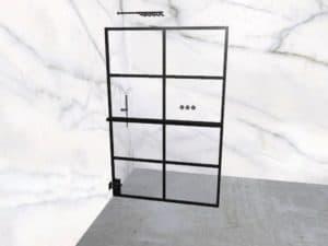 DEK-design Wall L 130 helder glas