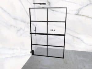 DEK-design Wall L 140 helder glas