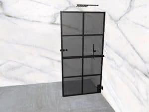 DEK-design Wall R 100 getint grijs glas