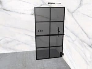 DEK-design Wall R 110 getint grijs glas