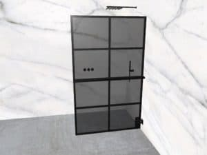 DEK-design Wall R 120 getint grijs glas