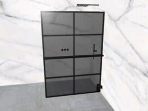 DEK-design Wall R 140 getint grijs glas