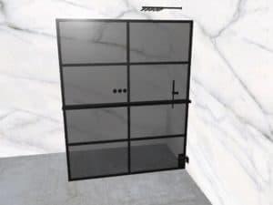 DEK-design Wall R 160 getint grijs glas