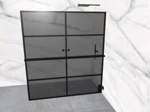 DEK-design Wall R 180 getint grijs glas