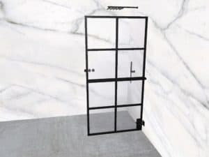 DEK-design Wall R 100 helder glas