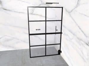 DEK-design Wall R 130 helder glas