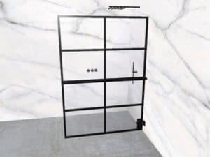 DEK-design Wall R 140 helder glas