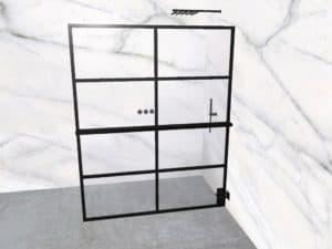DEK-design Wall R 160 helder glas