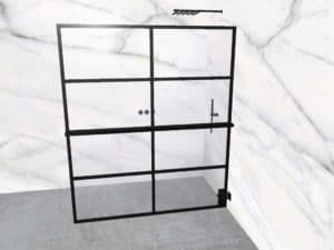 DEK-design Wall R 170 helder glas